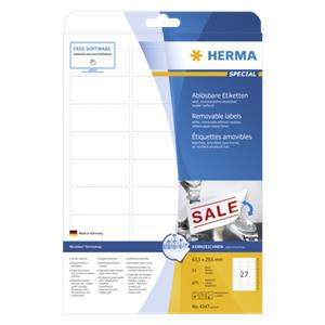 Herma Removable Labels 6